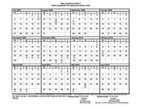 Blank One Month Calendar