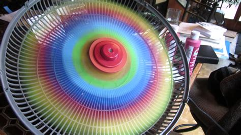 rainbow products electric fan spinning rainbow fan youtube