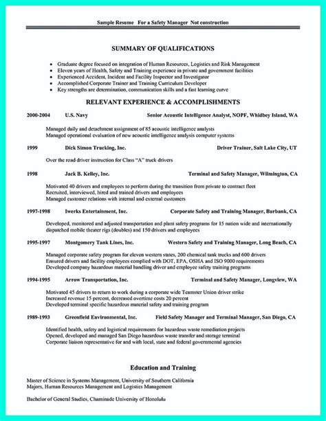 two years experience resume sle best 25 risk management plan exle ideas on