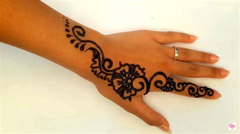 simple henna tattoo tutorial simple henna mehndi henna tutorial