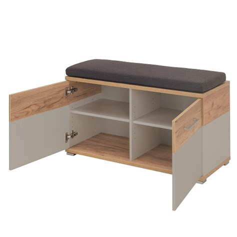 oak shoe bench zanotti wooden shoe bench in stone grey and oak 30629