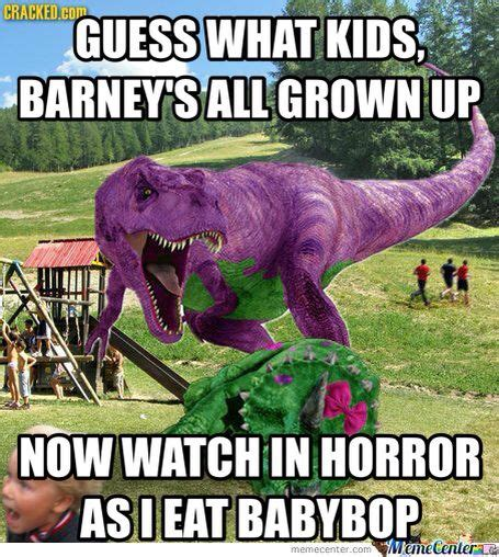 Barney The Dinosaur Meme - 14 best images about barney on pinterest chain saw