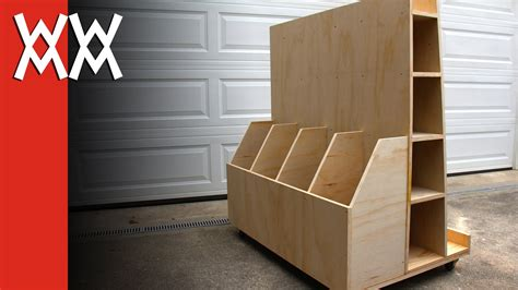 Build A Wood Storage Rack by Build A Lumber Storage Cart For Your Workshop