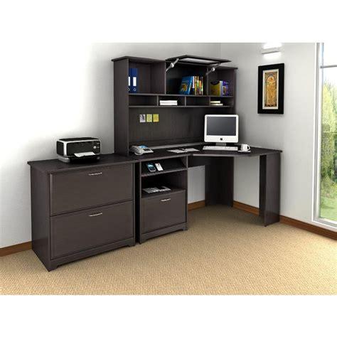 oak corner desk with hutch cabot espresso oak corner desk with hutch and lateral file