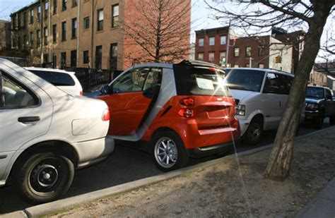 used smart car nyc most practical use of a smart car i ve seen can t decide