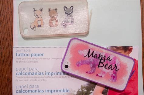 silhouette tattoo paper instructions diy watercolor phone cases with silhouette printable