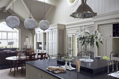 Houzz Kitchen Island Lighting by Wall Morris Design New England Style House Kerry