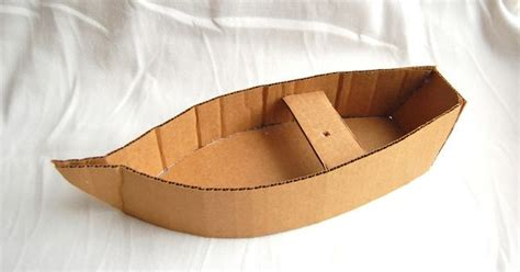 cardboard boat tutorial with pattern to make corrugated cardboard boat bible