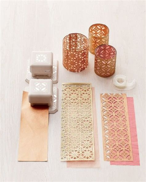paper punches for crafts punch paper and votive holder on