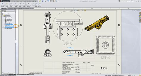 solidworks cross section find parent view of a solidworks section or detail view