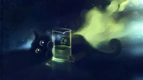 themes of black cat cats black cat deviantart artwork kittens apofiss