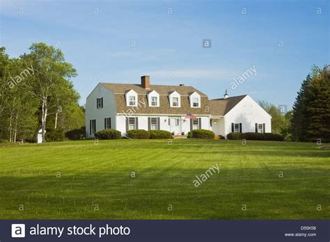 gambrel style house gambrel style house in summer maine stock photo royalty