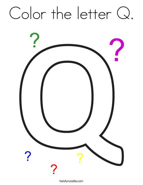coloring page for q color the letter q coloring page twisty noodle