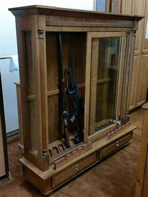 Amish Custom Crafted Combo Low Profile 16 Gun Cabinet