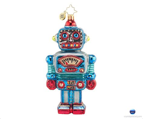 1017797 christopher radko irving the robot christmas ornament