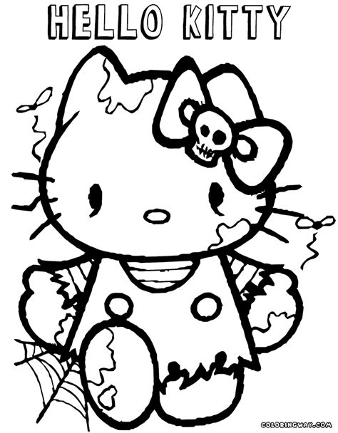 coloring pages of hello kitty halloween hello kitty halloween coloring pages coloring pages to