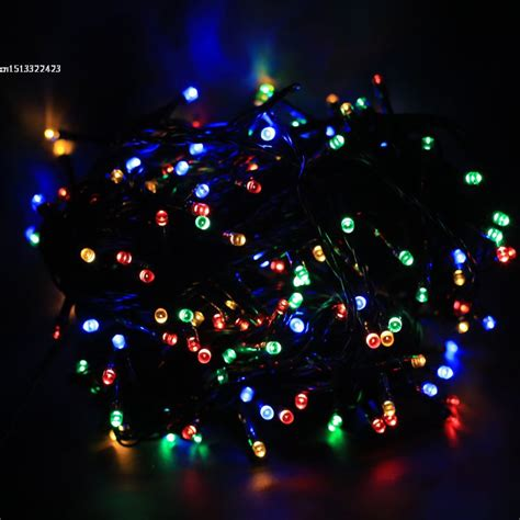 22m 200 led solar string l multi color waterproof