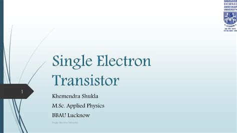 electron transistor ppt electron transistor ppt 28 images coulomb blockade and single electron transistors ppt