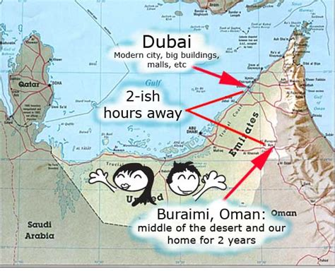 map uae and oman where are we