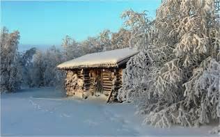 winter log cabin desktop wallpaper log cabin in winter wallpaper allwallpaper in 2603 pc