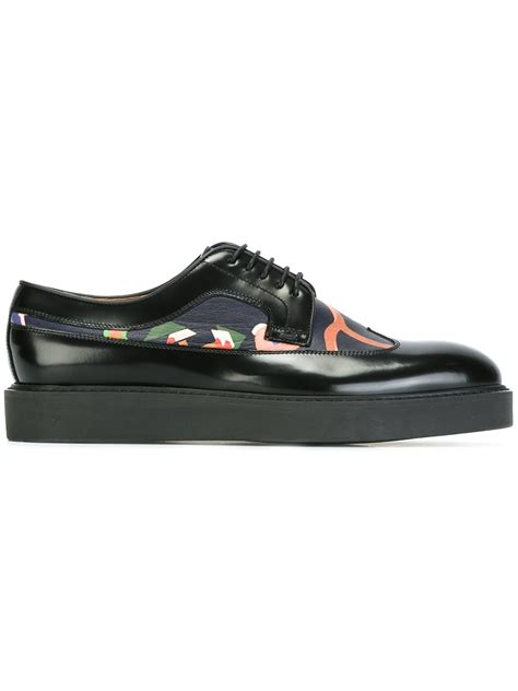 Panel Lace Up Shoes paul smith floral print panel lace up shoes shoes