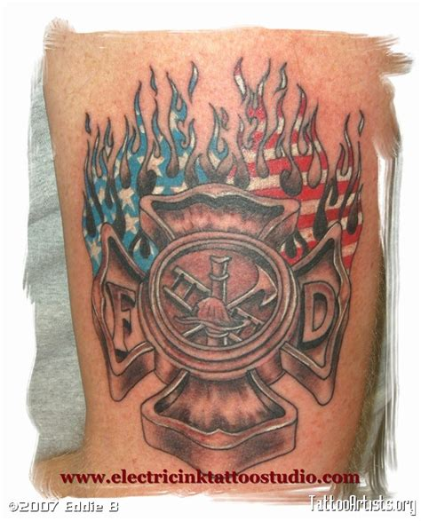 fire cross tattoos tat s by eddie b artists org