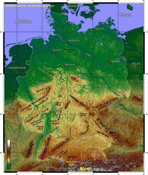 gebirgskarte deutschland freizeitparks deutschland karte