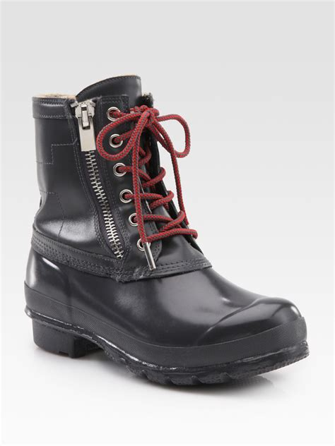 rubber duck boots corwin lace up leather rubber duck boots in