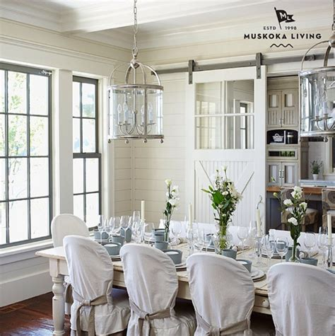 Coastal Dining Room Decorating Ideas by Coastal Muskoka Living Interior Design Ideas Home Bunch Interior Design Ideas