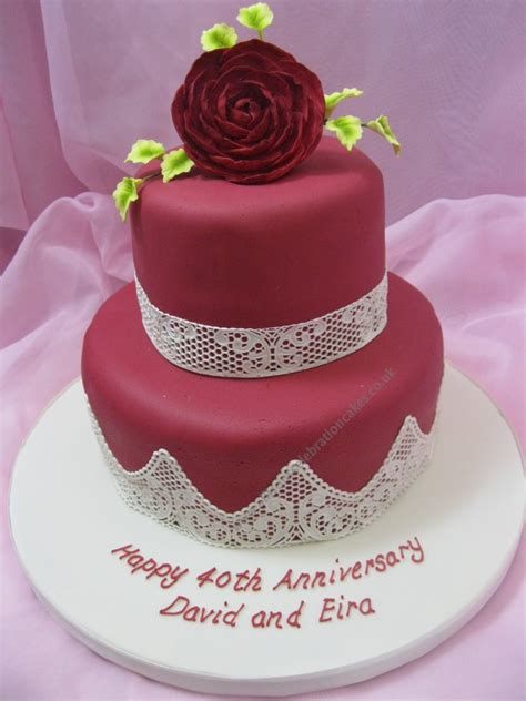 Ruby Wedding Cakes by Wedding Cakes Allisons Celebration Cakes