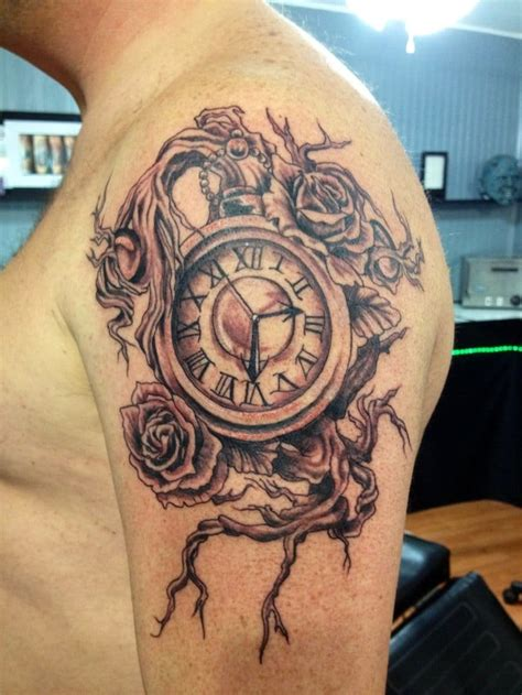 tattoo pictures of clocks custom rosary dove tattoo on arm by salvador diaz