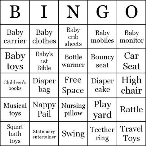 baby bingo card template baby shower gifts bingo card sle ideas