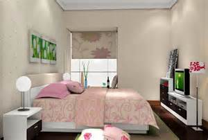 Woman bedroom with tv