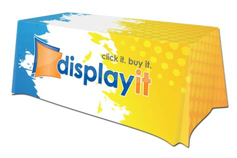 printed table covers table top displays and table covers
