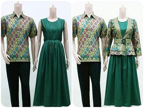 desain baju batik couple modern gambar baju couple batik songket 2016 fashion wanita