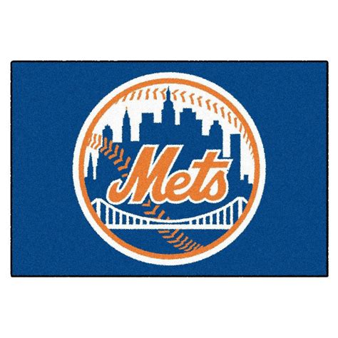 mets rug fanmats new york mets 19 in x 30 in accent rug 6446 the home depot