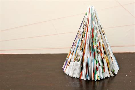 recycled magazine christmas trees will make you flip