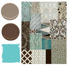 Charcoal Gray Upholstery Fabric Blue Brown And Aqua Color Palette Places In The Home