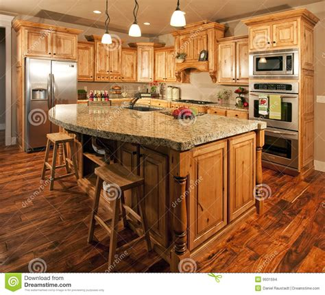 Center Kitchen Island Modern Home Kitchen Center Island Stock Images Image