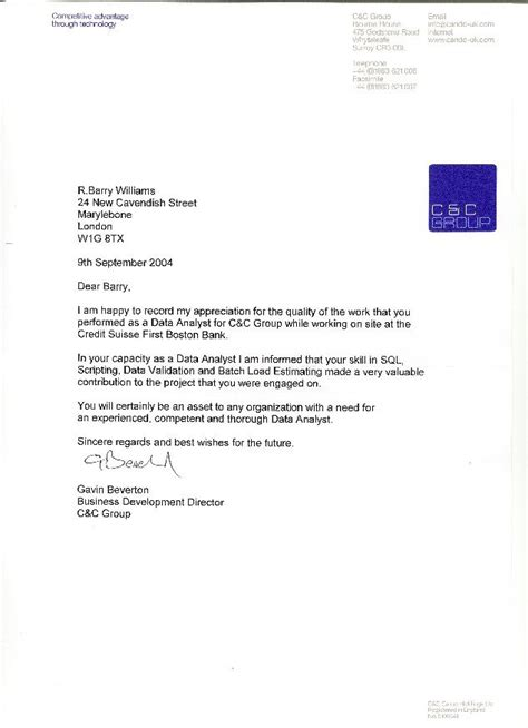 Appreciation Letter Of Credit Credit Suisse Bank
