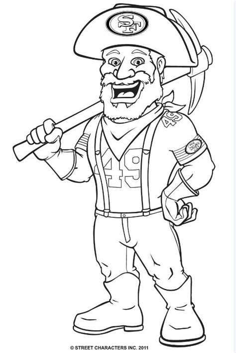 49ers Coloring Page san francisco 49ers coloring pages coloring pages