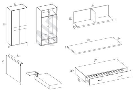 misure scrivania scrivania misure misure letto a scomparsa con scrivania