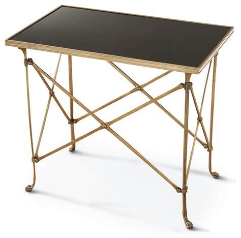 black marble end table directors cut regency gold black marble