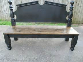 bed into bench bed frame into beautiful bench repurposing ideas