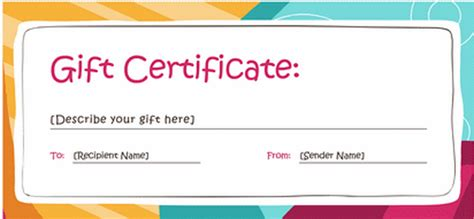 gift card template docs customize gift certificate vouchers blank certificates