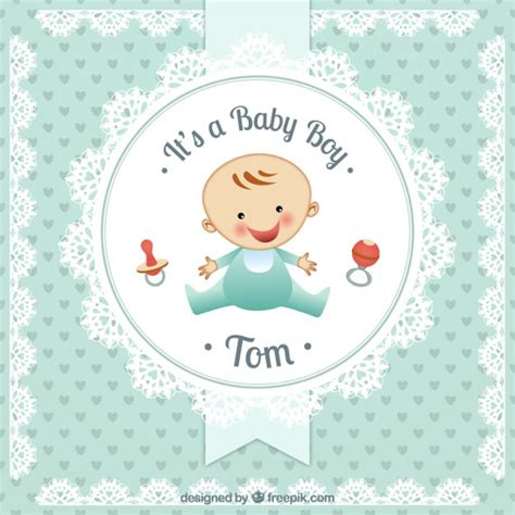 baby boy baby boy baby boy card in doily style vector free