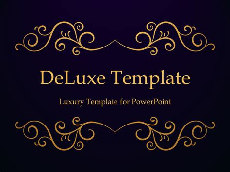 Luxury Powerpoint Template Deluxe Luxury Powerpoint Template
