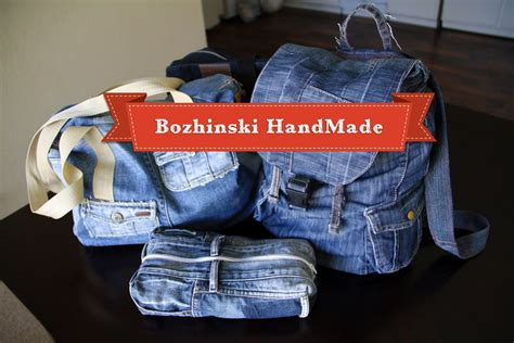 Handmade Denim - handmade denim bags cosmetic purse and pockets from