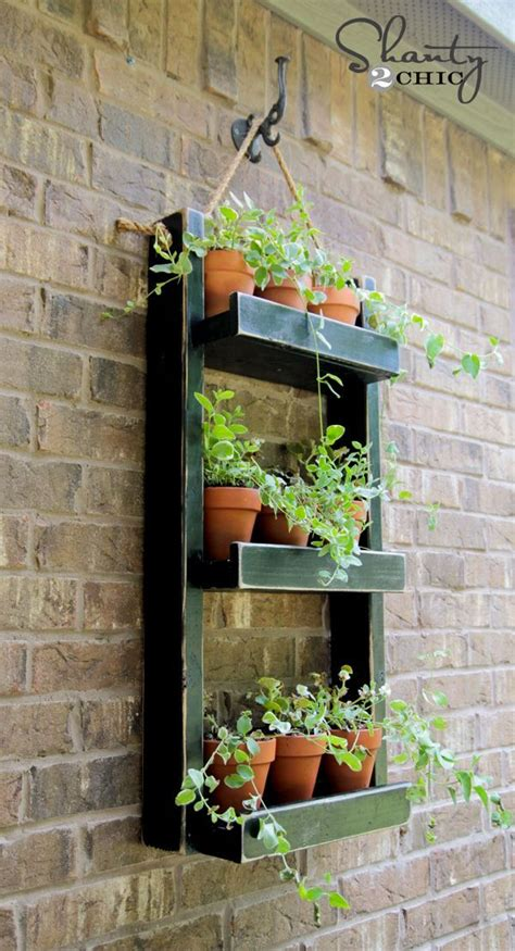 wall mounted wooden kitchen herb planter kit with seeds hanging garden planter side wall herbs garden and