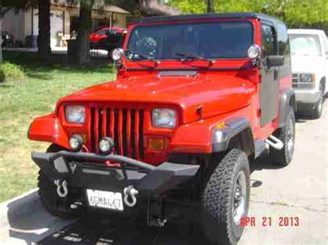 sell used jeep wrangler yj 1992 2 5 liter 5 speed manual